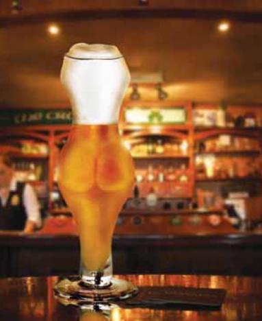 bicchiere birra culo