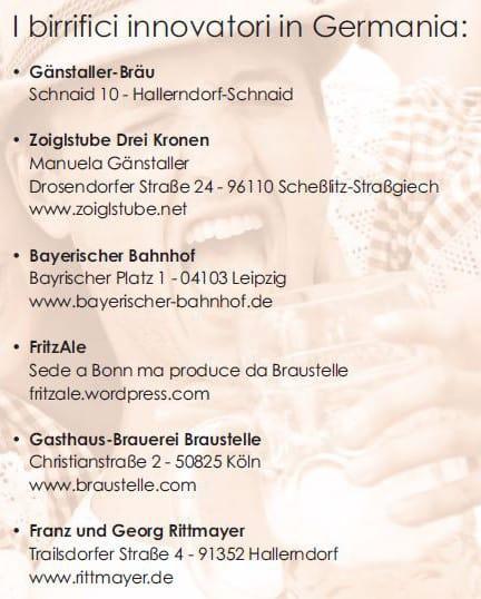 lista birrifici germania