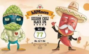 MC 77 Hapanero etichetta