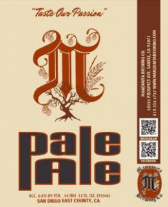 Manzanita Pale Ale etichetta