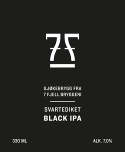7 Fjell Svartediket etichetta