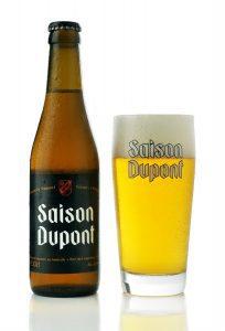 Saison Dupont bottiglie e bicchiere