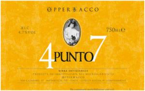 4punto7 opperbacco etichetta