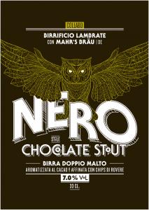 Nero chocolate stout Lambrate e Mahrs etichetta