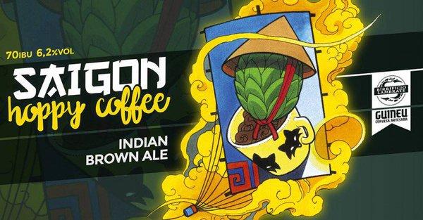 Saigon Hoppy Coffee etichetta